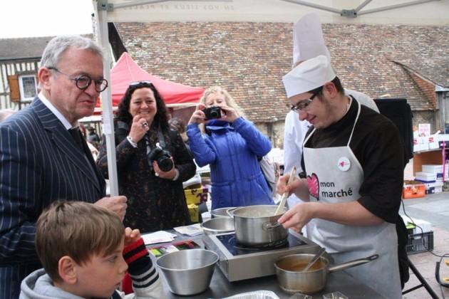 Jean Luc Petitrenaud était sur le marché de Chamalières, il sera à Aubière ce dimanche