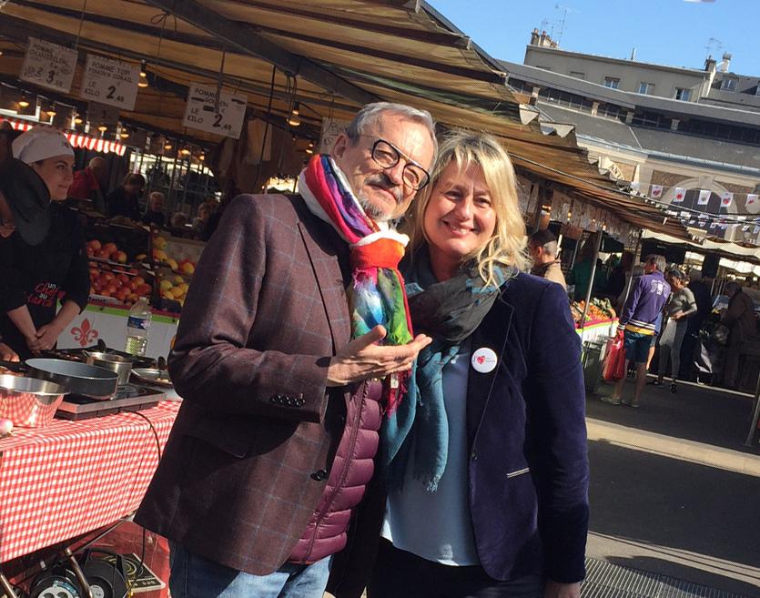 Jean-Luc Petitrenaud, invité surprise du marché du centre